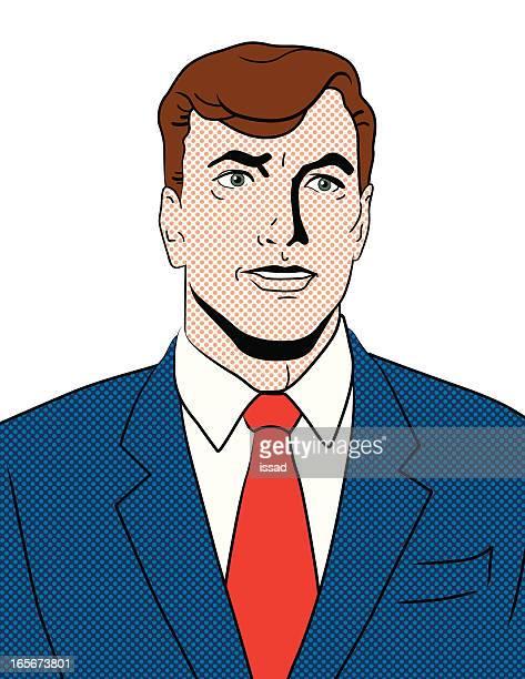 Pop Art Retro Portrait - Caucasian Man