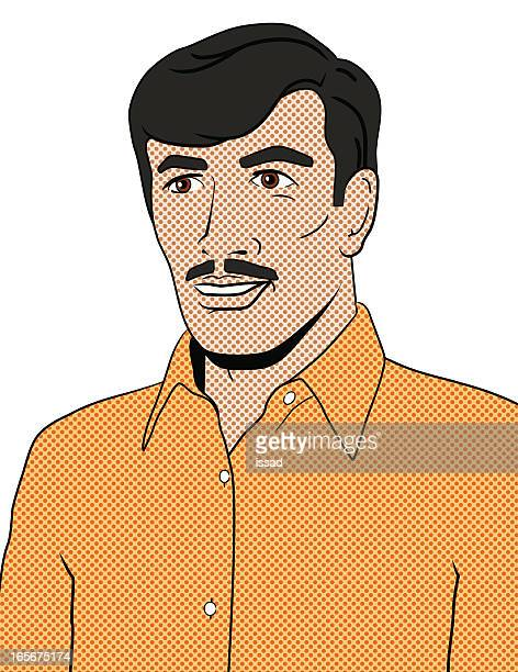 Pop Art Retro Portrait - Ethnic Man