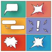 Pop art speech bubbles set