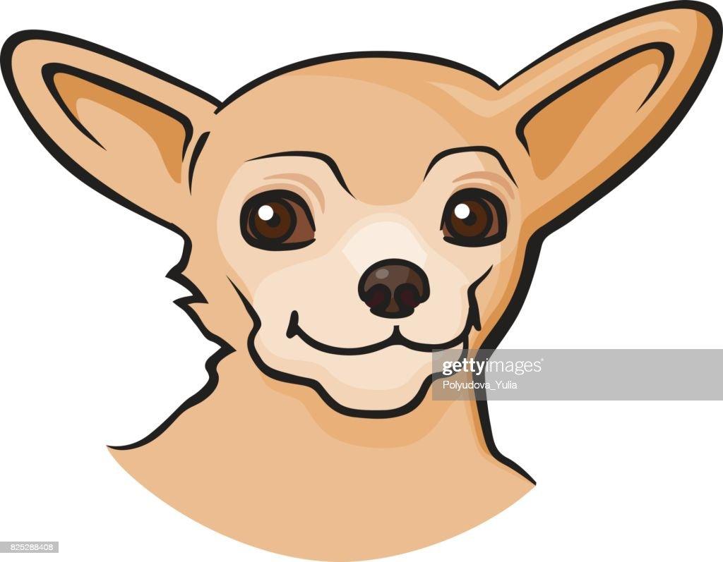 Pop art style dog sticker