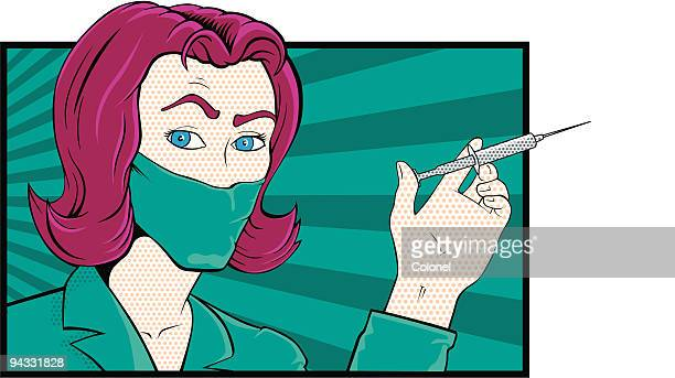 pop art - injecting stock illustrations, clip art, cartoons, & icons