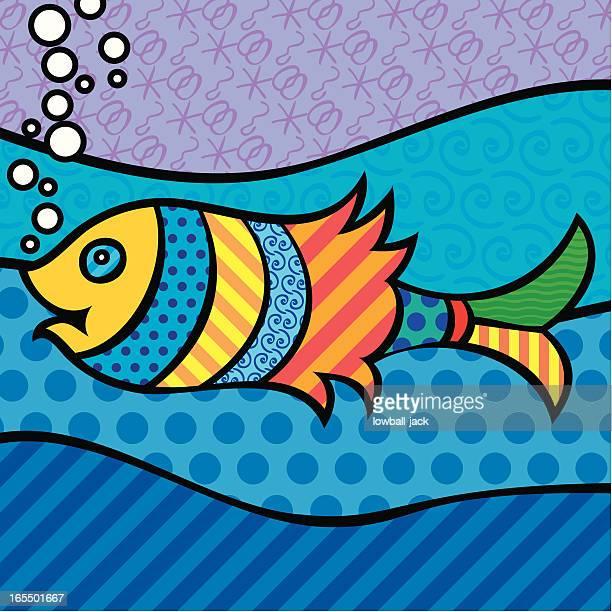 pop fish - angelfish stock illustrations, clip art, cartoons, & icons