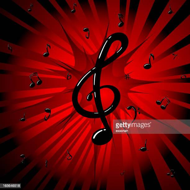 pop music - bass clef stock illustrations, clip art, cartoons, & icons