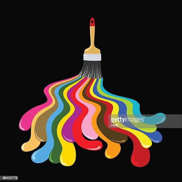 ilustraciones, imágenes clip art, dibujos animados e iconos de stock de pop pincel - decorar