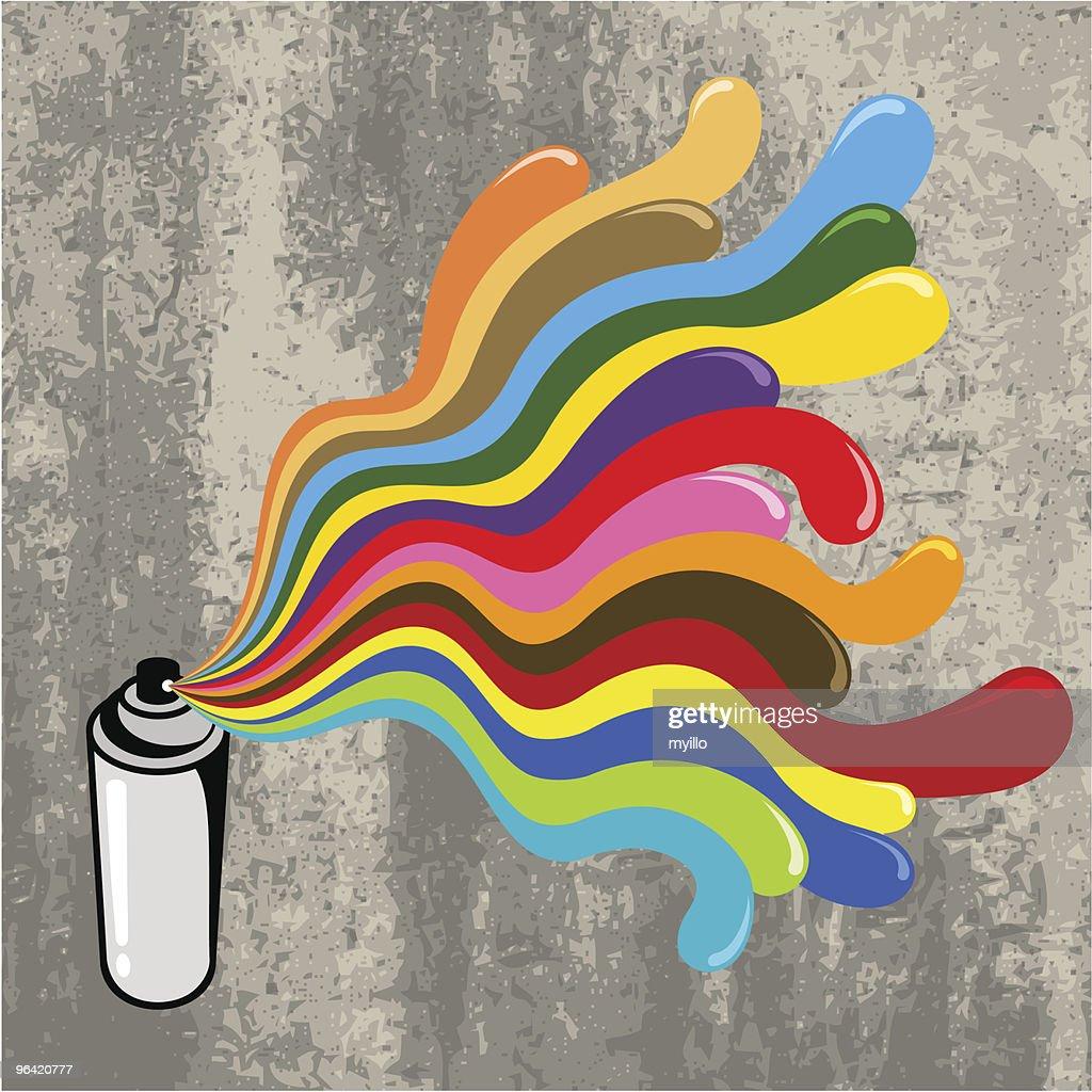 Pop spray can
