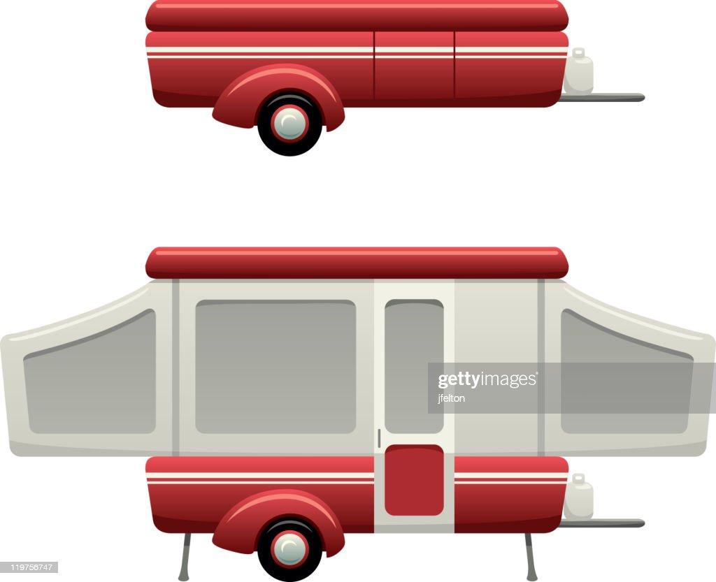 Camper Popup Vektorgrafik | Getty Images