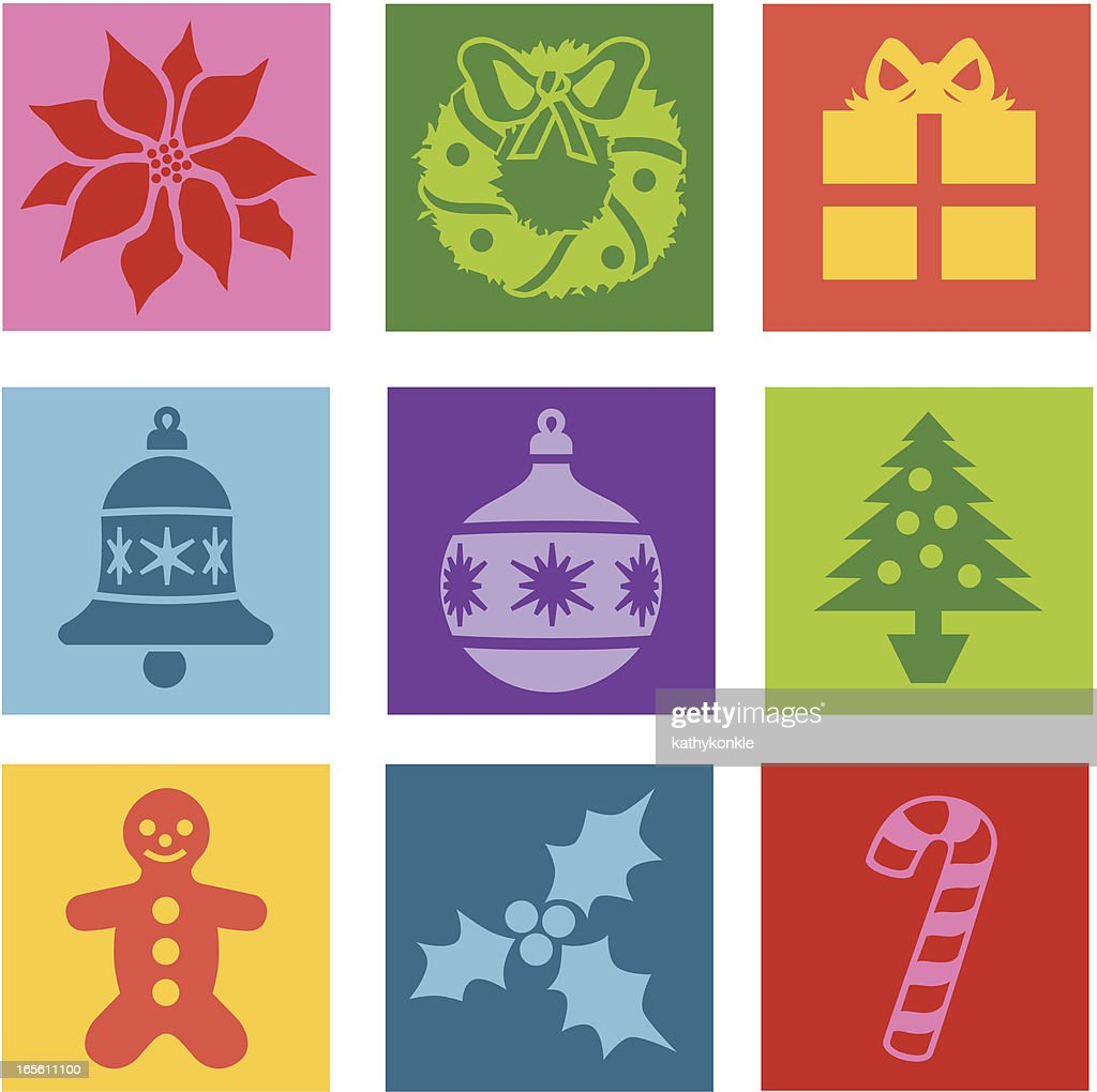 Popart Christmas Symbols Vector Art Getty Images