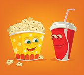 Popcorn and soda characters best friends