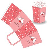 Popcorn bucket template for Valentine's day