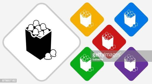 Popcorn Farbe Diamant Vektor Icon