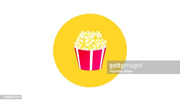 popcorn large cup box icon - gourmet food stock illustrations, clip art, cartoons, & icons