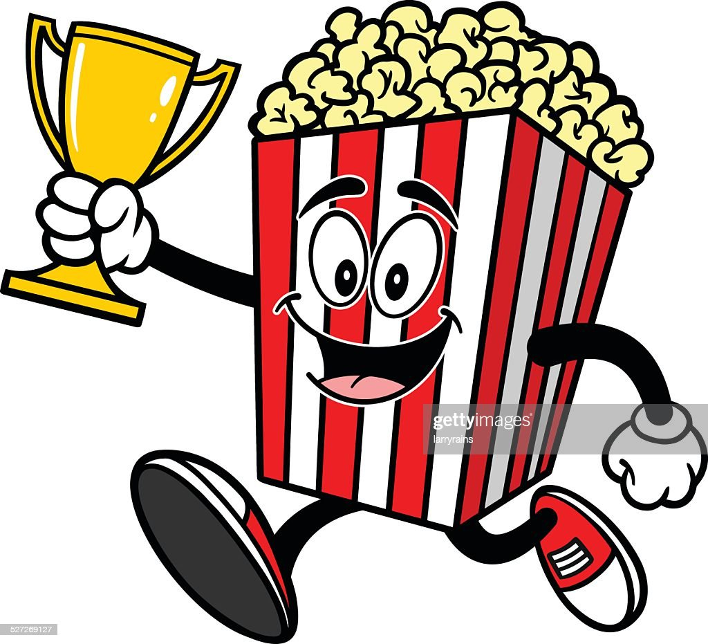 Popcorn Running with Trophy