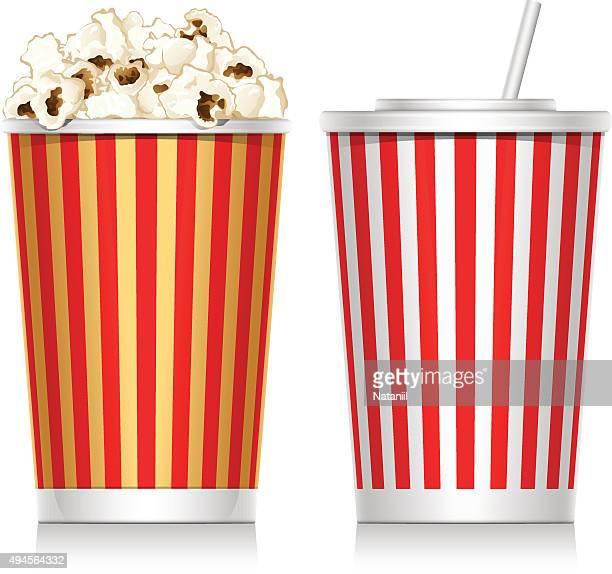 popcorn - carbonated stock illustrations, clip art, cartoons, & icons