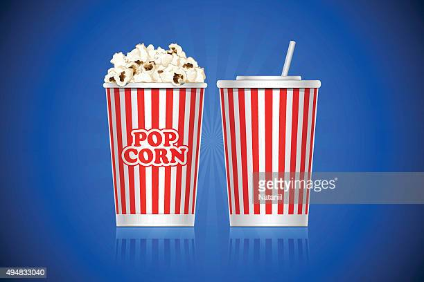 popcorn - carbonated stock illustrations, clip art, cartoons, & icons