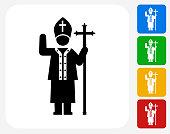 Pope Icon Flat Graphic Design