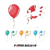 popped balloon - vector
