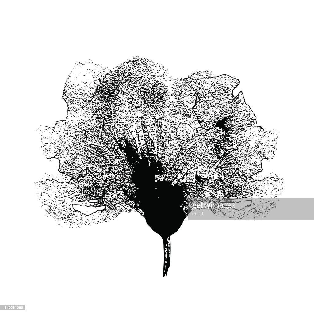 Poppy Flower Graphic Illustration Isolated On White Background Hand ...