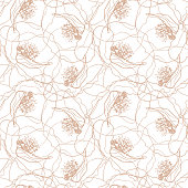 Poppy flowers seamless pattern. Elegant vector texture design for wallpaper, wrapping, scrapbooking, cards, invitations, textile print.