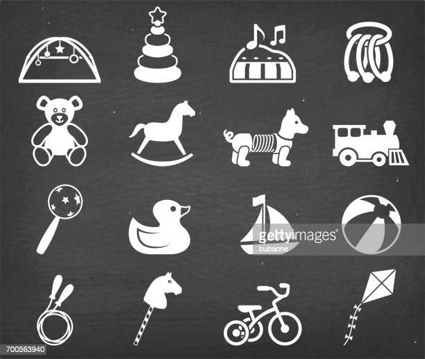 Popular Baby toys royalty free vector icon set