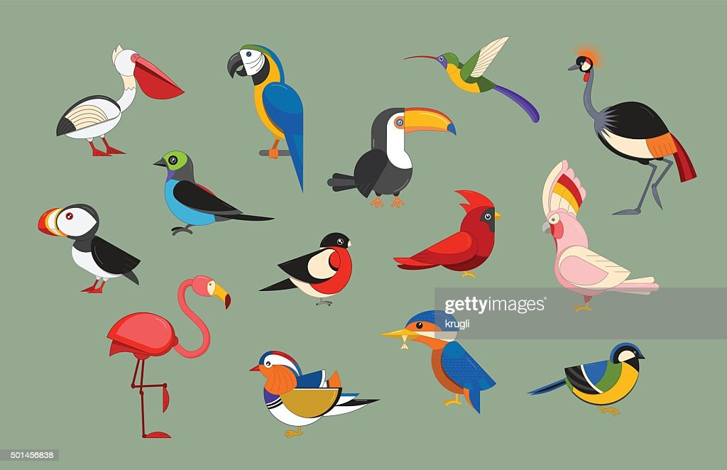 Popular Birds Icon Set