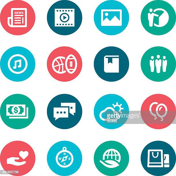 popular categories icons - adulation stock illustrations, clip art, cartoons, & icons
