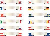 Popular flag banners