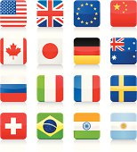 Popular Flags - square icons