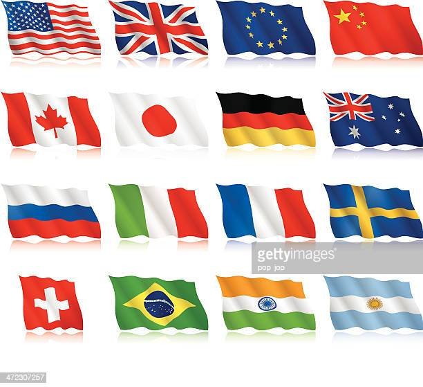 Popular Flags - waving form