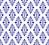 porcelain pattern design vector