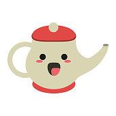 Porcelain tea jug cute kawaii cartoon