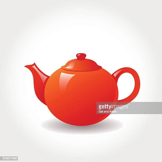 porcelain teapot - kitchenware department stock illustrations, clip art, cartoons, & icons