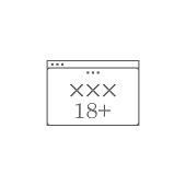 porn site icon. Web element. Premium quality graphic design. Signs symbols collection, simple icon for websites, web design, mobile app, info graphics