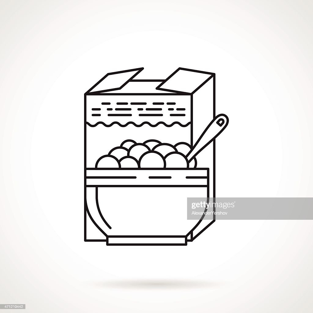 Porridge black line vector icon