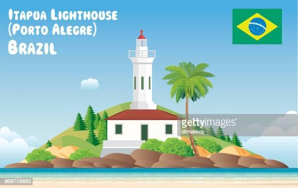 port alegro lighthouse - porto alegre stock illustrations