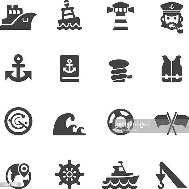 Port icons Silhouette icons | EPS10