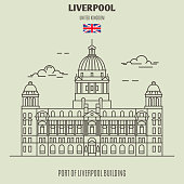 Port of Liverpool Building in Liverpool, UK. Landmark icon