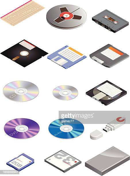 portable data storage - floppy disk stock illustrations, clip art, cartoons, & icons