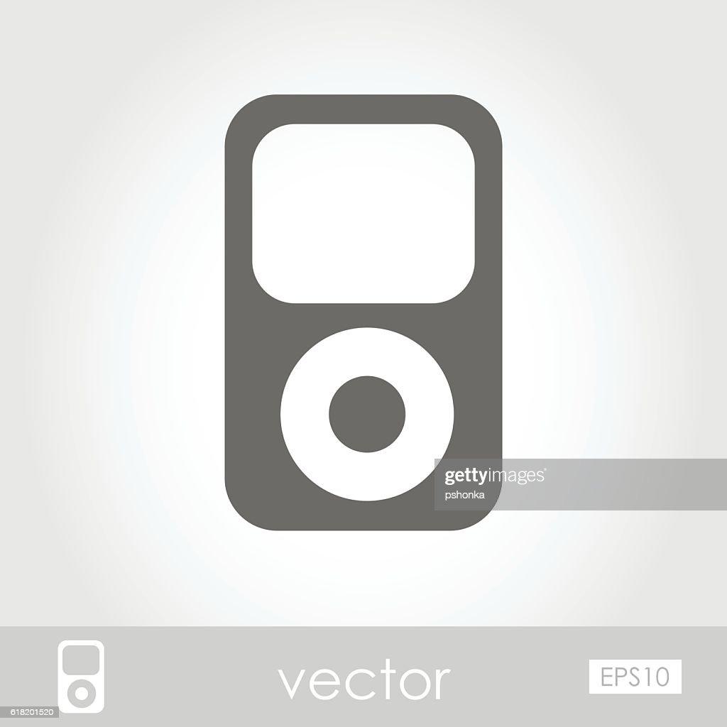 Portable media player icon