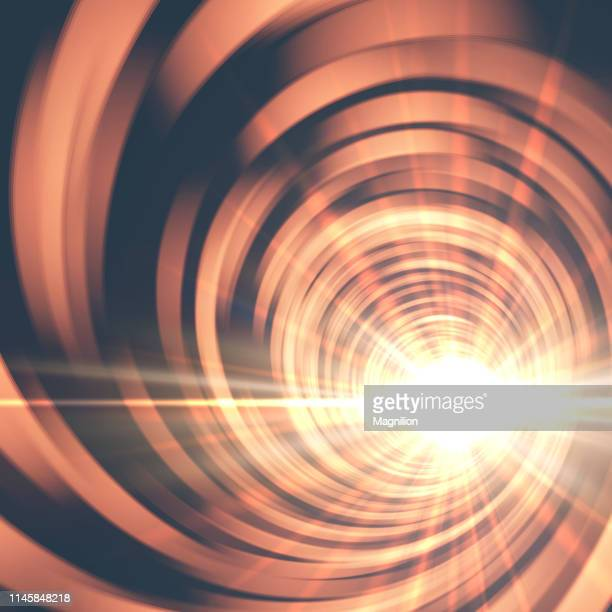 portal tunnel with bright light abstract background - supernova stock illustrations