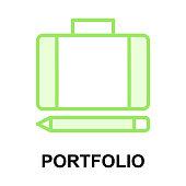 portfolio colour line vector icons