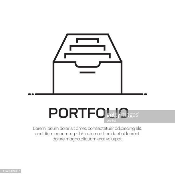 Portfolio Vector Line Icon - Simple Thin Line Icon, Premium Quality Design Element
