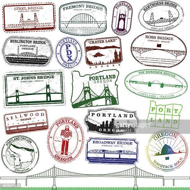 Portland Landmark Stamps
