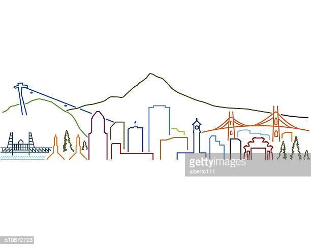 Portland Line Cityscape