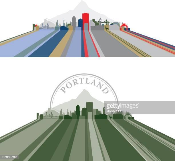 Portland Lined Cityscape