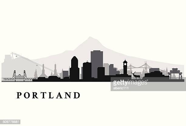 Portland Oregon simple cityscape