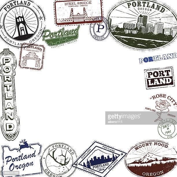 Portland Oregon Stamp Series Layout
