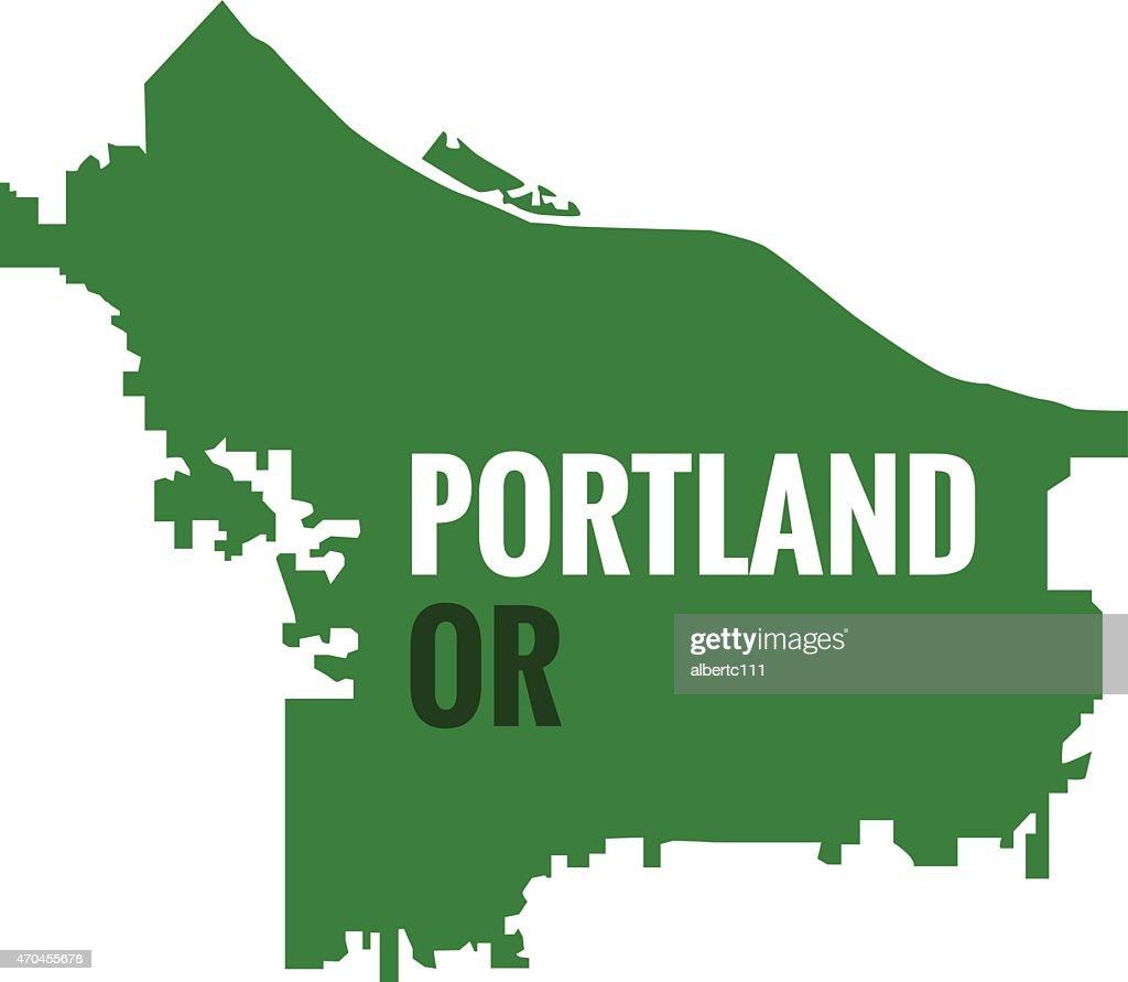 Portland Oregon Stylized Outline Vector Art Getty Images