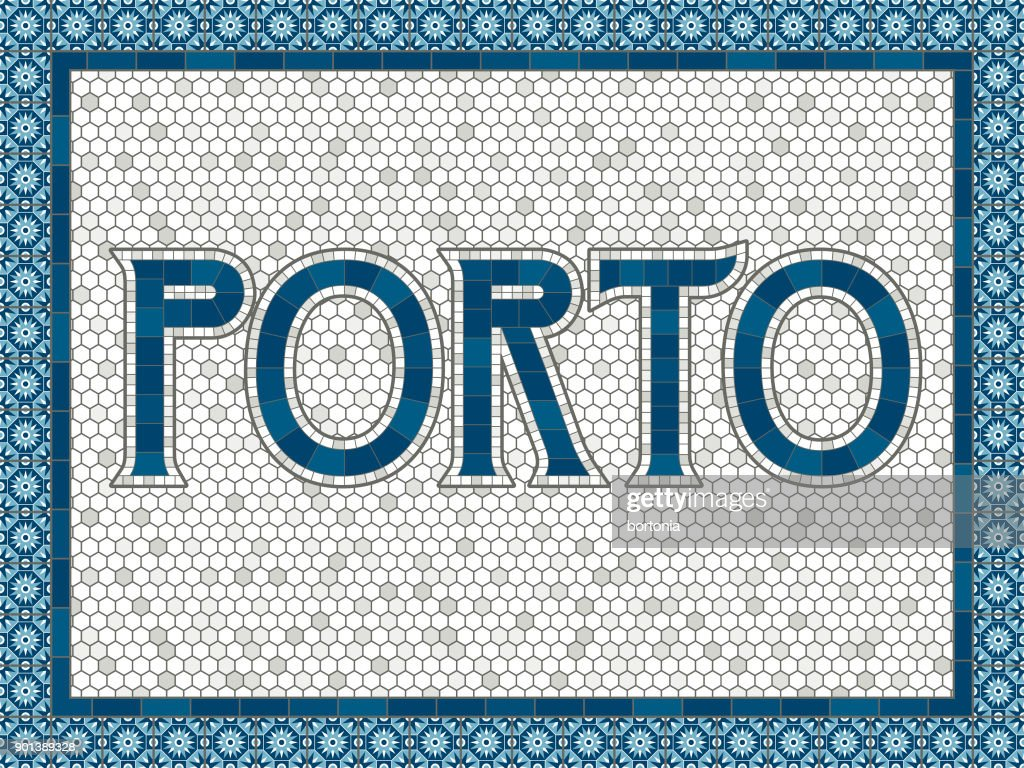 Porto Old Fashioned Mosaic Tile Typography