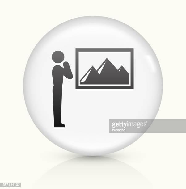 Portrait icon on white round vector button