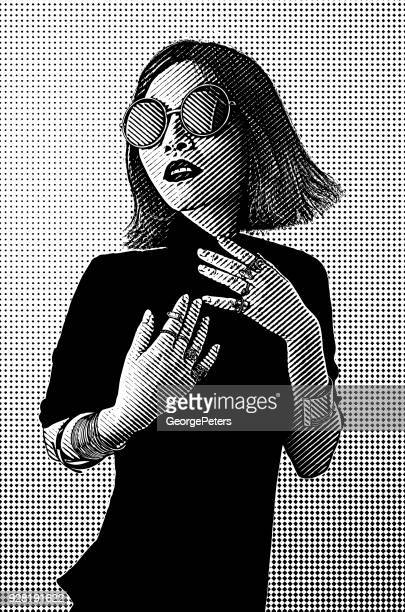 Portrait of a fashionable Vietnamese woman with cool attitude